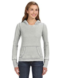 Ladies ZEN Pullover Hooded Sweatshirt- Cement ()