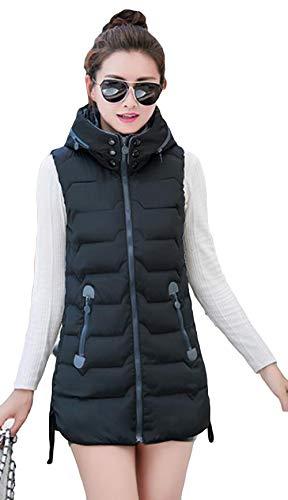 文庫本給料下に向けますAlppv レディース ダウン ベスト 秋 冬 ファッション 中綿 ベスト 無地 スカジャン コート ロングベスト スリム ダウンベスト 韓国風 ジャケット