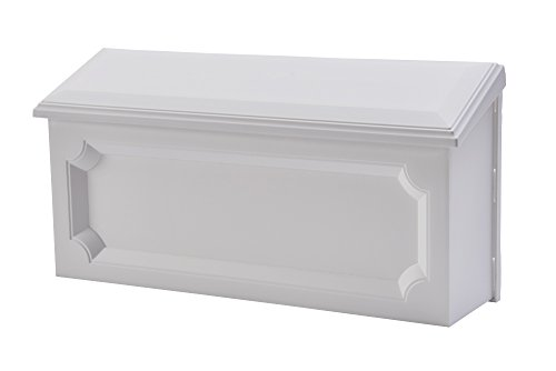 Gibraltar Mailboxes Windsor Medium Capacity Rust-Proof Plastic White, Wall-Mount Mailbox, -
