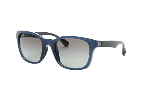 2b0d892c3a1 Ray Ban RB4197 Sunglasses-604211 Opal Blue Gray (Gray Lens)-56mm - Buy  Online in Oman.