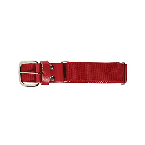 Franklin Sports Youth Baseball and Softball Belt - MLB Leather Belt - Red ()