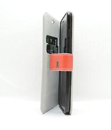 iPhone 6Plus–Rouge London Cabine téléphonique étui en simili cuir pour carte avec film protecteur d'écran en verre trempé–Accessoires pour téléphones mobiles par Motif