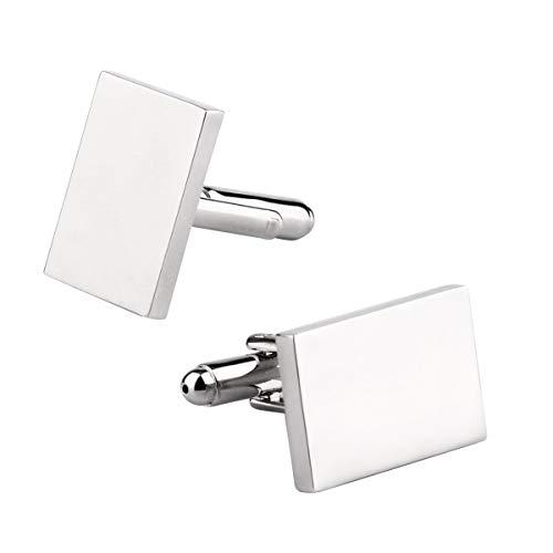 - Driew Blank Cufflinks, Blank Cufflink for Men Cuff Links Flat Pad Blank Setting Tray 1 Pair (Rectangle)
