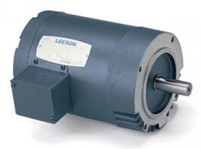 Leeson Electric, 101966.00, .25HP, 1725RPM, 3PH, 208V;230V;460V, 48CZ Frame, C-Face Flange, Footless, TENV, General Purpose ()
