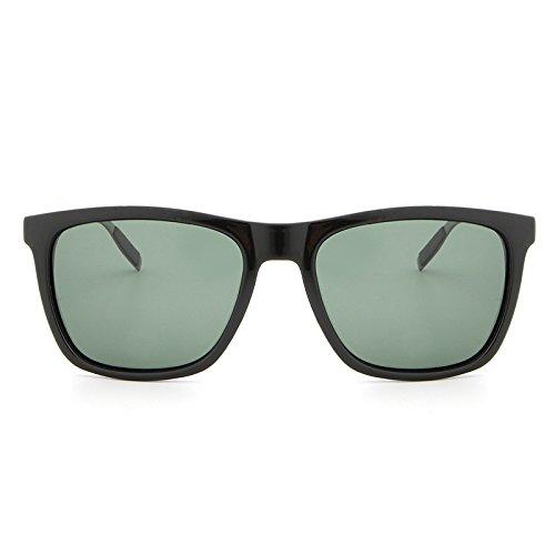 Black Shangougu Soleil Conduite green Lunettes de Polarisées Aluminium Nouvelle Soleil Mode Cadre Carré de UV400 Lunettes Hommes magnésium YRaYrq