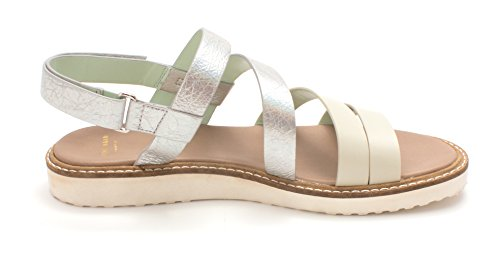Toe Cole Maddoxsam Casual Taupe Slingback Womens Haan Silver Sandals Beige Open rHHpEIUnq