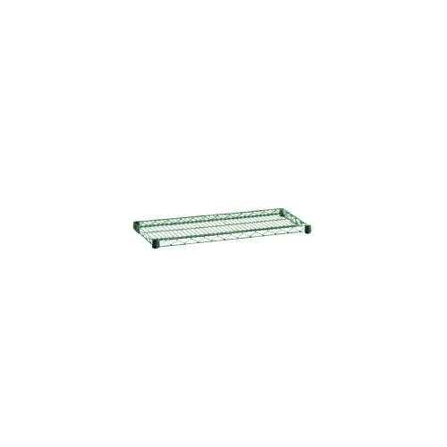 Focus Foodservice FF2448G Green Epoxy Coated Wire Shelf, 24'' X 48'', Zinc underplated Wire by Focus Foodservice