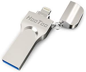 HooToo iPhone Flash Drive 128GB MFi Certified USB 3 0, iOS Photo Stick for  iPhone iPad, Touch ID Encryption, Compatible iPhone X XR XS 6 6S 7 7S 8 8S