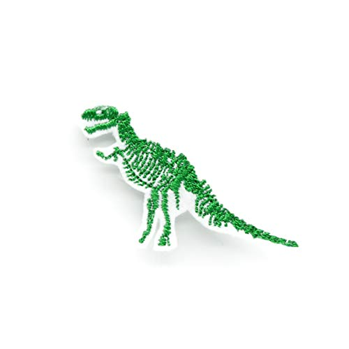 - Mini T-Rex Skeleton Iron On Embroidered Patch
