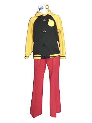 Mtxc Men's Soul Eater Cosplay Costume Soul 1st Size XXX-Large Black