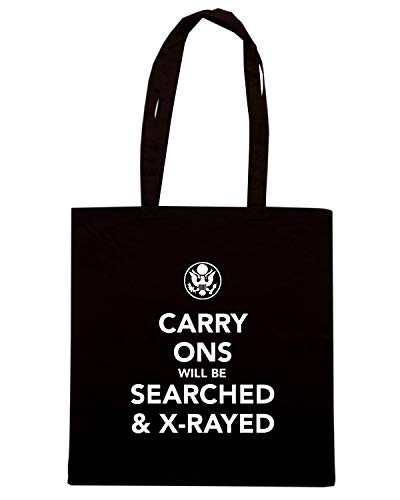Speed Shirt Borsa Shopper Nera TKC3472 CARRY ONS WILL BE SEARCHED & X RAYED