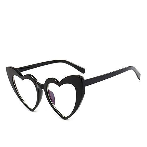 Sunglasses Women Cat Eye Sun Glasses Retro Love Heart Shaped Glasses Ladies Shopping Sunglass UV400,Clear ()