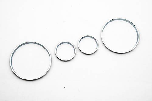 Chrome Interior Dash Gauge Dial Ring Set For BMW E39 5 Series