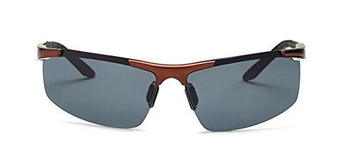 du soleil Bronze style lunettes vintage cercle métallique polarisées en inspirées rond retro Lennon de Cadre en I55qZ