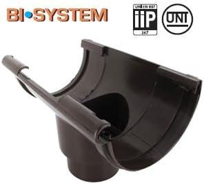 First Plast Naissance centrale PVC Demi-Ronde /à coller Personnalisable-16-Marron