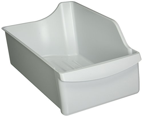 Genuine Frigidaire Refrigerator Ice Maker Cube Bucket Storage Bin 240385201 (Left Side Ice Bin)