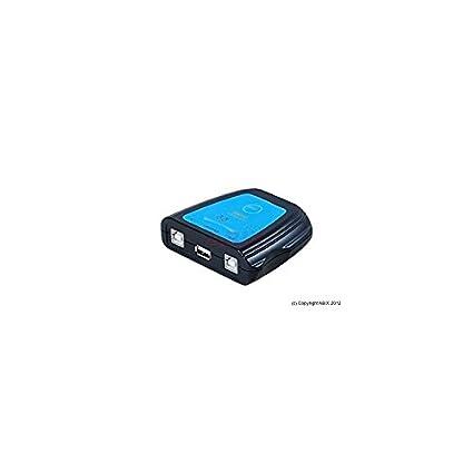 Abix - Switch de 2 puertos USB 2.0 (1 impresora para 2 ...