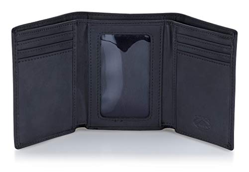 Stealth Mode Leather Trifold