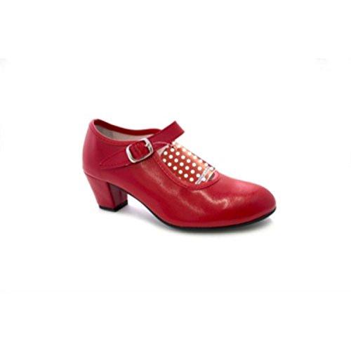 Séville chaussure de danse flamenco fille ou une femme Danka en rouge