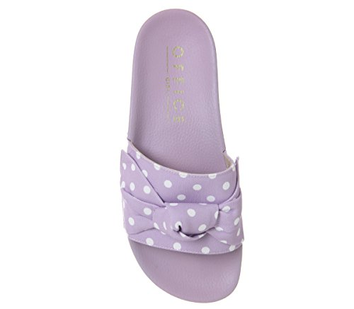 Office Summertime Polka Dot Bow Slides Lilac Polka Dot ZHyQJ1hX