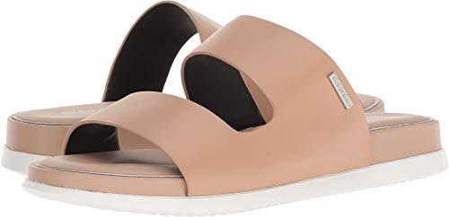 Calvin Klein Womens Diona Open Toe Casual Slide Sandals, Desert Sand, Size 11.0