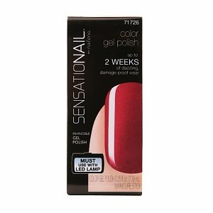 Sensationail Color Gel Polish, Misfit Red, .25 fl oz