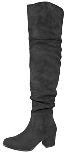 Lora Dora Womens Over The Knee Thigh High Boots Black - Style 2 tnEqK