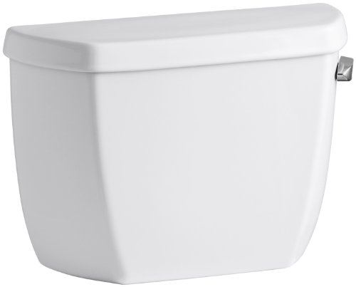 Kohler K-4436-RA-0 Wellworth Classic 1.28 gpf Toilet Tank with Class Five Flushing Technology and Right-Hand Trip Lever, White
