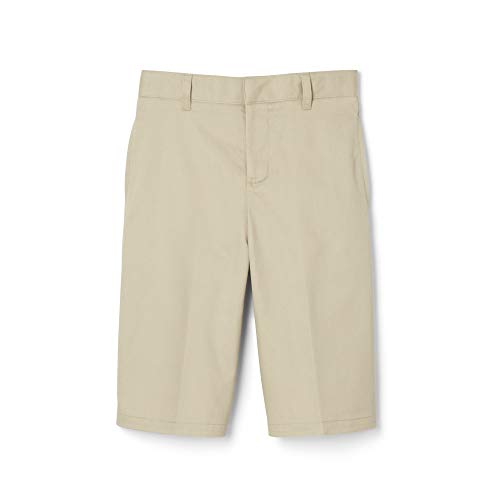 Boys Flat Front Shorts - French Toast Little Boys' Basic Flat Front Short with Adjustable Waist, Khaki, 5