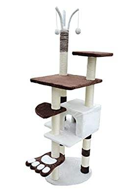 "PawHut 68"" Scratching Cat Tree Pet Scratcher Furniture Post Condo House with Toys"