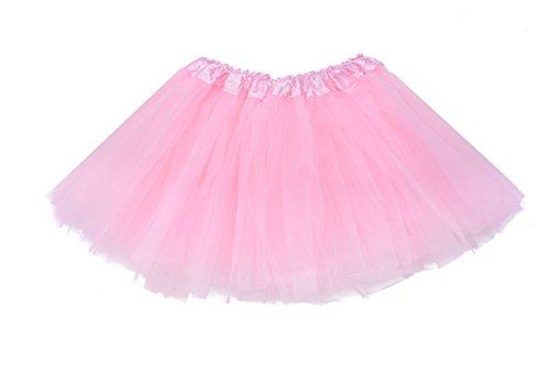 Lubin-Baby-Girls-Kids-Child-Tutu-colorful-Skirt-Mini-Party-Ballet-Dance-Short-Skirts-2-10-Years-Light-Pink