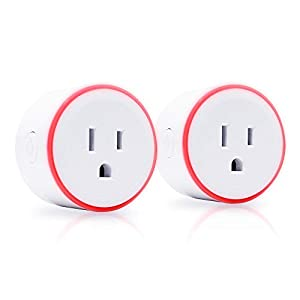 Smart Plug Outlet | Elliot's Nest LED Plug | Amazon Alexa and Google Home Compatible Wifi Plug | No Hub Required – 2 Pack