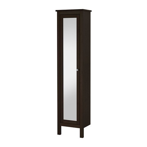 Ikea High cabinet with mirror door, black-brown stain 19 1/4x12 1/4x78 3/4 '', 38210.52320.162 by IKEA