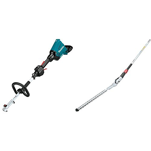 Makita XUX01Z 18V X2 (36V) LXT Lithium-Ion Brushless Cordless Couple Shaft Power Head, Tool Only with EN401MP 20'' Articulating Hedge Trimmer Couple Shaft Attachment by Makita