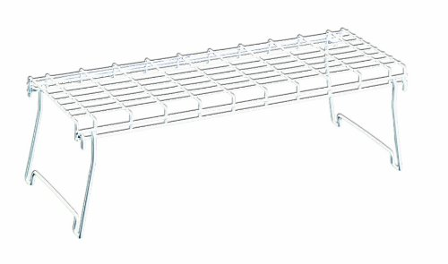 Amazon.com: Metaltex USA Inc. Stacking Shelf, White, Large: Home ...