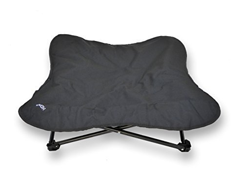 Black Large Black Large HDP Elevated Padded Napper Cot Space Saver Pet Bed color Black Size Large