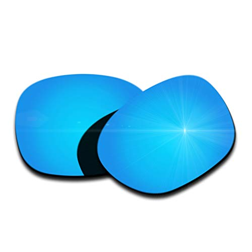 (Polarized Replacement Lenses for Oakley Garage Rock Sunglasses - Ice Blue Mirrored Coating)