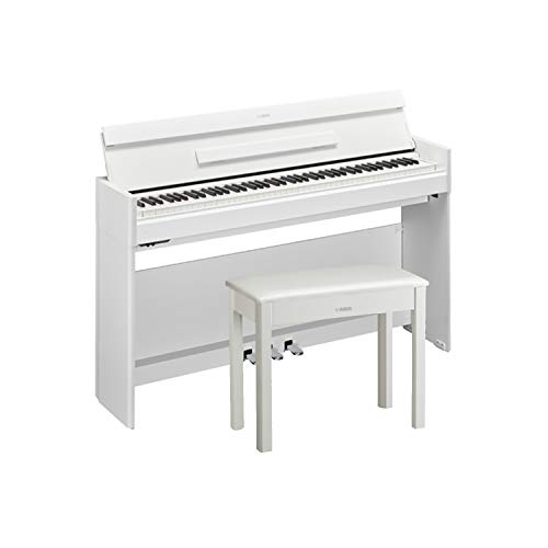 Yamaha YDPS54WH White Walnut, 88-note, weighted action console digital piano with BC108WH White Bench