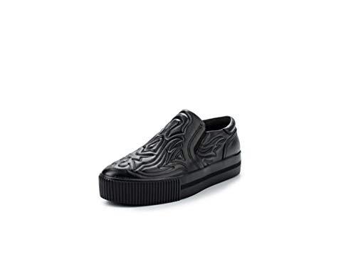 Cuero Ash Zapatillas De Para Negro Mujer wwzExRaZ