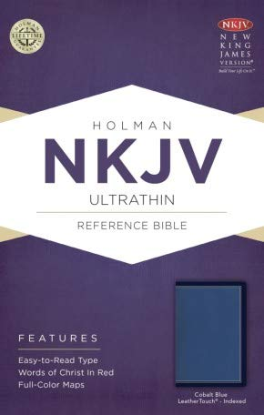 NKJV Ultrathin Reference Bible, Cobalt Blue LeatherTouch, Indexed