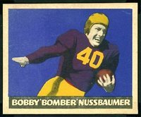 1949-leaf-regular-football-card-33-65-robert-nussbaume-of-the-chicago-cardinals-vg-condition