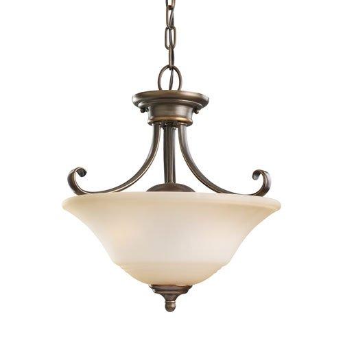 Sea Gull Lighting Parkview Russet Bronze Energy Star Two-Light LED Convertible (Energy Star Convertible Ceiling Light)