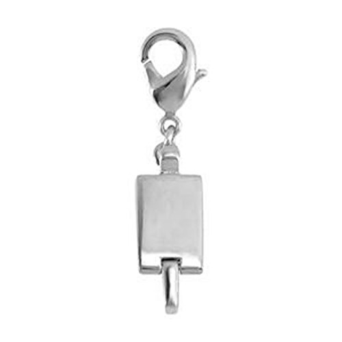 Clicksecure Rhodium Silver Plated Fashion Metal Magnetic Clasp ()