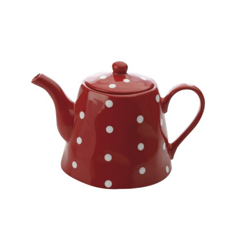 Maxwell and Williams Sprinkle Teapot, 40.5-Ounce, Red
