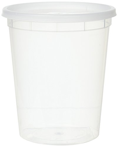 - YW YSD-2532-12 Plastic Soup Food Container with Lids (12), 32 oz
