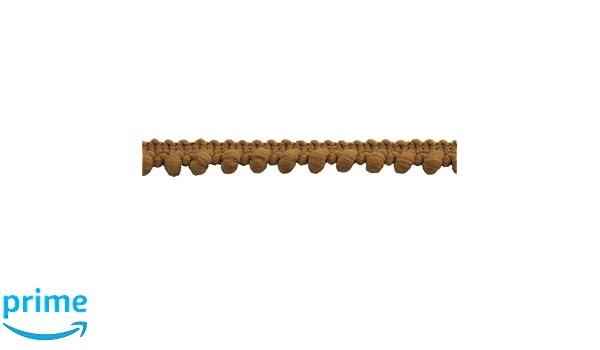 Gold 25-Yard Mini Pompom Fringe 3//8-Inch Polyester Fringe Rolls for Arts and Crafts