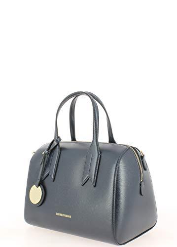 Twin Noir Bleu Handbag Marine Femme Armani Emporio Handle 41q5Faw
