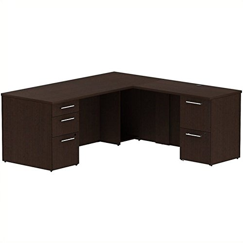 BSH300S025MR - Bush Industries Bush Business 72W x 30D Single Pedestal Desk L-Station with 2Dwr Pedestal