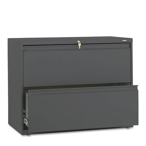 HON 882LS 800 Series 36-Inch by 19-1/4-Inch 2-Drawer Lateral File, Charcoal by HON