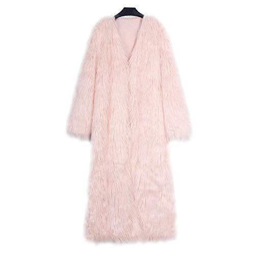 Slim Termico Donna Ecopelliccia Invernali Elegante Cappotto Cute Puro Chic Di Giacca Pelliccia Parka Autunno Fit Lunga Manica Calda Cardigan Colore Pink afSrazOxwq